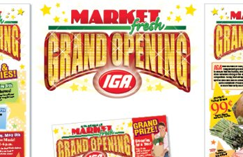 Hood Canal IGA Grand Opening Flyer