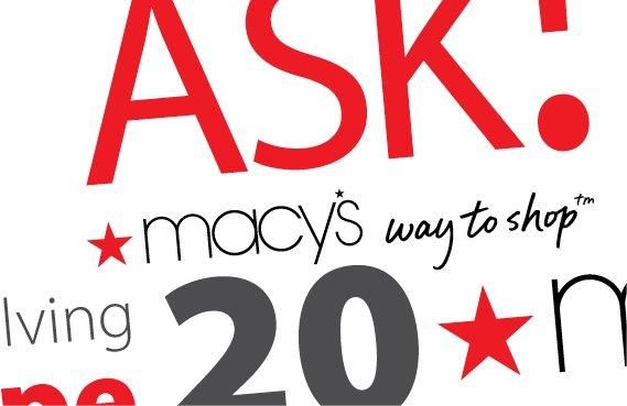 Macy's Sales Associate Promotion